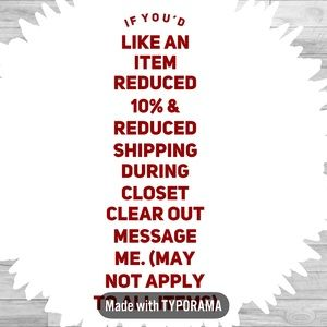 Reduced shipping + 10% off during Closet C…